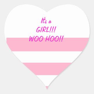 It s a Girl Woo Hoo Stickers