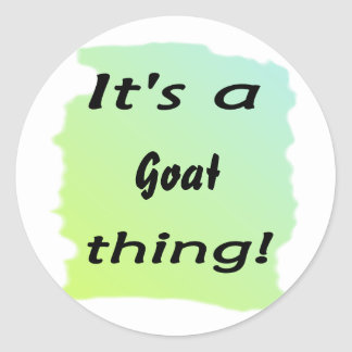 It s a goat thing sticker