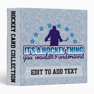 It s A Hockey Thing Sports Card Album Customizable Vinyl Binder