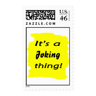 It s a joking thing stamps
