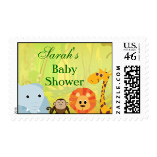 It s A Jungle Baby Shower Stamps