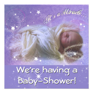 It s a Miracle Baby Shower Personalized Invitations