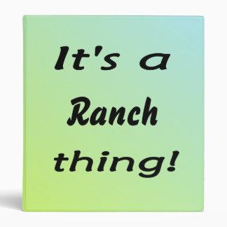 It s a ranch thing vinyl binder