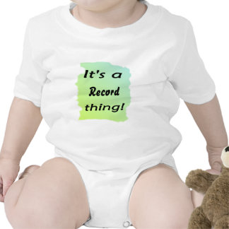 It s a record thing t shirt