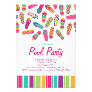 It s a Summer Flip Flop Pool Party Invitation