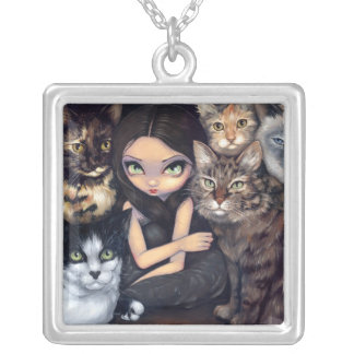 It s All About the Cats NECKLACE cat fairy