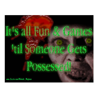 it s All Fun and Games postcard