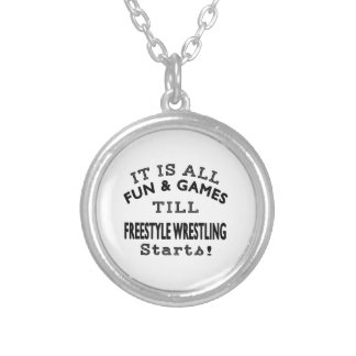 It s All Fun Games Till Freestyle Wrestling Star Pendant