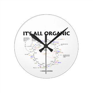 It s All Organic Krebs Cycle Citric Acid Cycle Wall Clocks