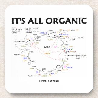 It s All Organic Krebs Cycle Beverage Coasters