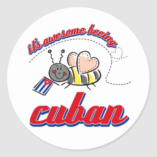 It's awesome being Cuban Classic Round Sticker