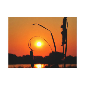 It s Cattail Hour Gallery Wrapped Canvas