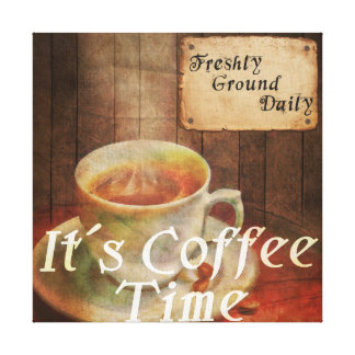 It´s Coffee time Canvas Print