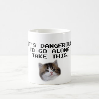 It's Dangerous To Go Alone Take This Kitten Coffee Mug
