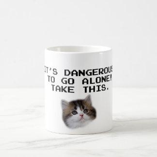 It's Dangerous To Go Alone Take This Kitten Mug