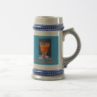 """It´s freshly squeezed orange juice "" Beer Stein"