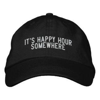 It s Happy Hour Somewhere Embroidered Baseball Cap