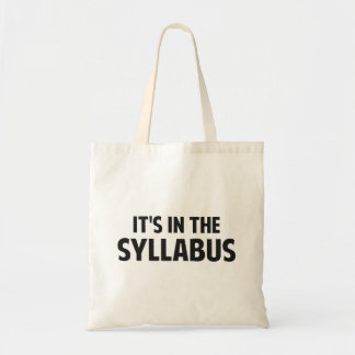 It s In The Syllabus Canvas Bag
