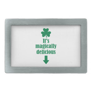 It s magically delicious shamrock belt buckle