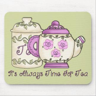 It' s mide el tiempo siempre para el té 2 alfombrilla de raton