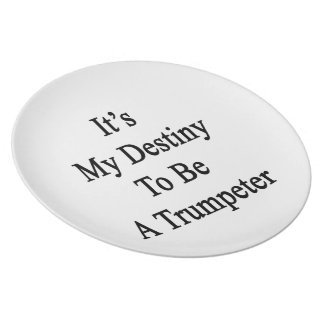 It s My Destiny To Be A Trumpeter Dinner Plates