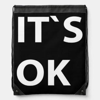 IT`S OK black Backpacks
