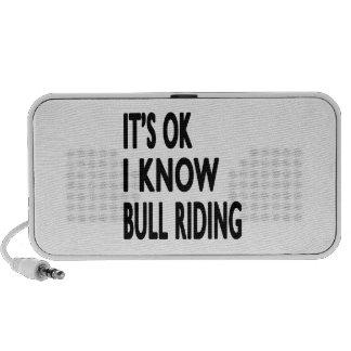 It s OK I Know Bull Riding Dance Mini Speaker