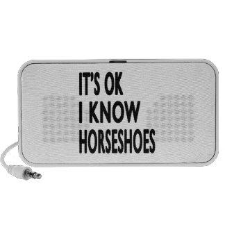 It s OK I Know Horseshoes Travelling Speaker