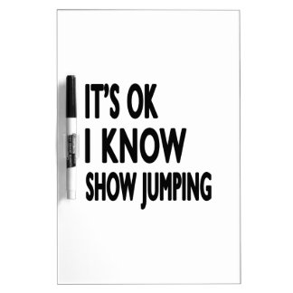 It s OK I Know Show Jumping Dry-Erase Whiteboards