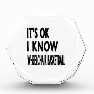 It s OK I Know Wheelchair Basketball Acrylic Award
