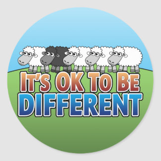 It s OK to be Different BLACK SHEEP Stickers