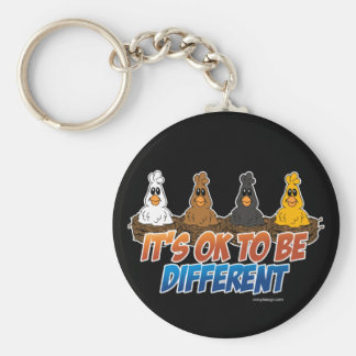 It s OK To be Different Keychain