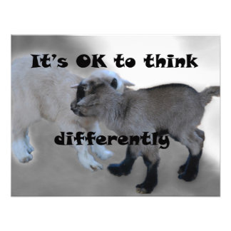 It s OK to Think Differently Custom Announcement