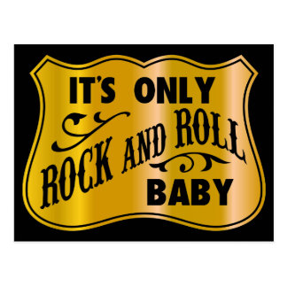 It´s Only Rock And Roll Baby Postcard
