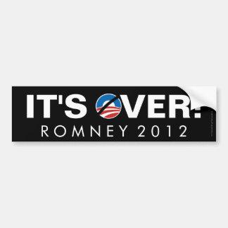 It s Over Anti-Obama Pro-Romney Bumper Sticker