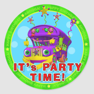 It s Party Time Birthday Stickers with Buster