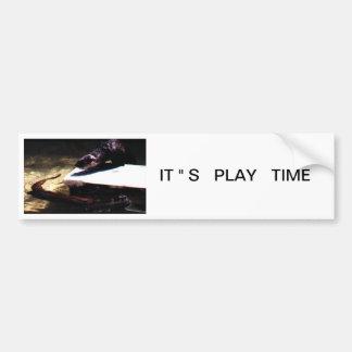"IT ""S   PLAY   TIME BUMPER STICKER"