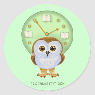 It's Read O'Clock Classic Round Sticker