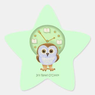 It's Read O'Clock Star Sticker