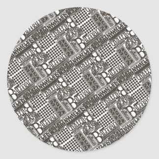 It s Showtime Pattern Round Stickers