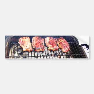 It s Snowing Let s Grill Ribeyes Bumper Stickers