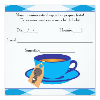 It ` s the Boy Baby Shower - Tea of Baby Boy Card
