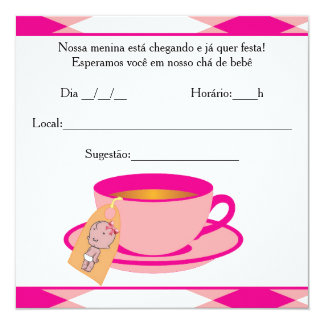 It ` s the Girl Baby Shower - Tea of Baby Girl Card