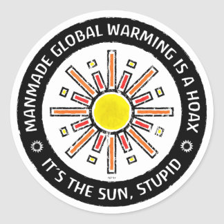 It's The Sun, Stupid Classic Round Sticker
