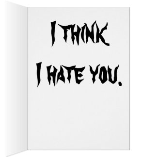 It's  the thought that counts… card