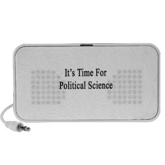 It s Time For Political Science iPod Speaker