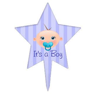 It´s un azul de la cara del bebé del muchacho - figura para tarta