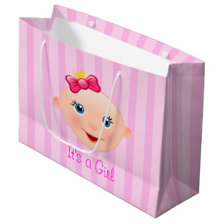 It´s un rosa de la cara del bebé del chica - bolso bolsa de regalo grande