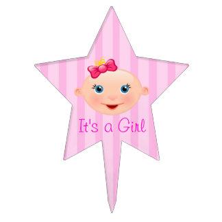 It´s un rosa de la cara del bebé del chica - figura de tarta