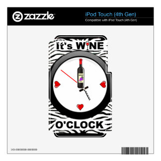 It s Wine O Clock Decals For iPod Touch 4G